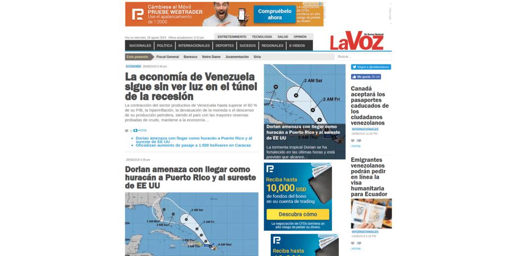 Diario La Voz - Tema anterior